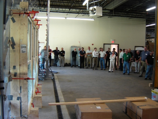 A two-day building envelope educational symposium and design challenge, hosted by Architectural Testing, Inc. (ATI) at its New England Regional Laboratory in Chelmsford, MA, received capacity attendance by 50 area architects, engineers and representatives of product manufacturers specializing in the design and construction of the all-important building envelope air barrier.